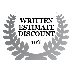10% Discount with Written Estimate